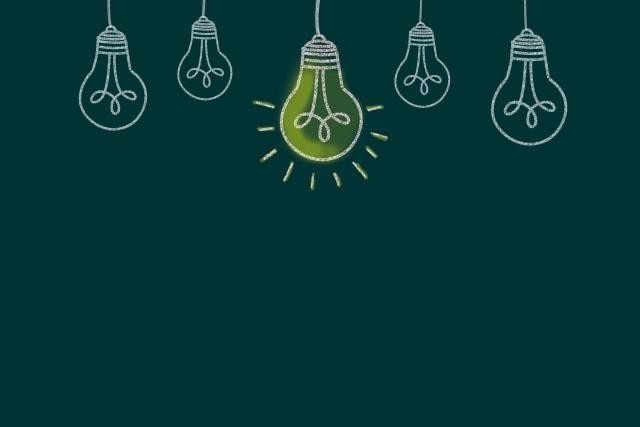 アイディアの電球