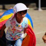 運動会をがんばる子どもとBGM
