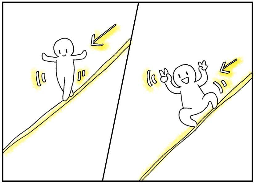 大繩と使った3歳児のサーキット