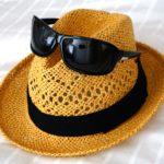 夏の帽子の写真